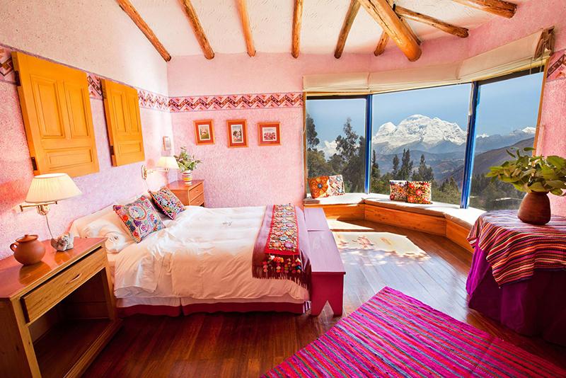 Colourful Cuesta Serena Hotel in the Cordillera Blanca