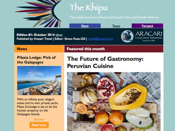 The Khipu Blog, Aracari Travel