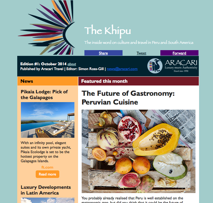 The Khipu Blog and Monthly Newsletter