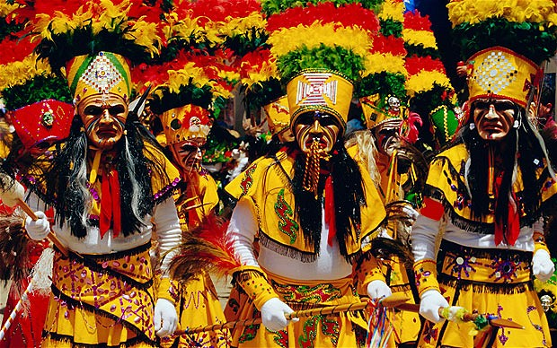 Colors, Costumes, Masks and Music at the Oruro Carnival