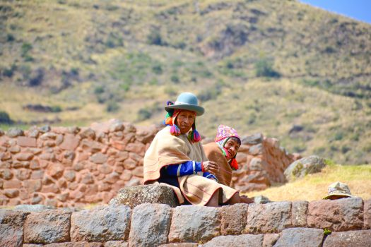 Andean couple sitting