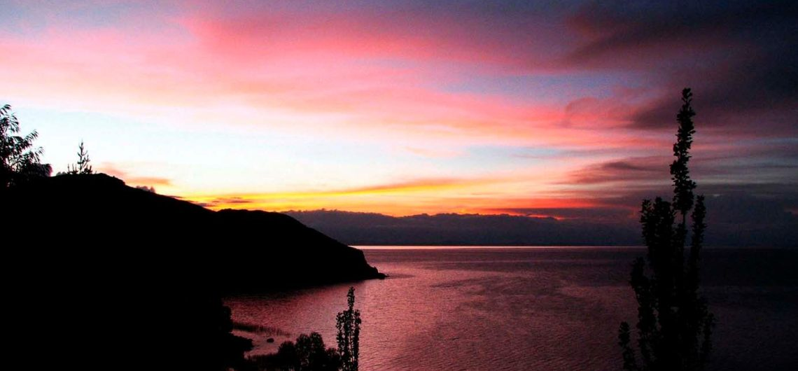 aracari lake titicaca sunset