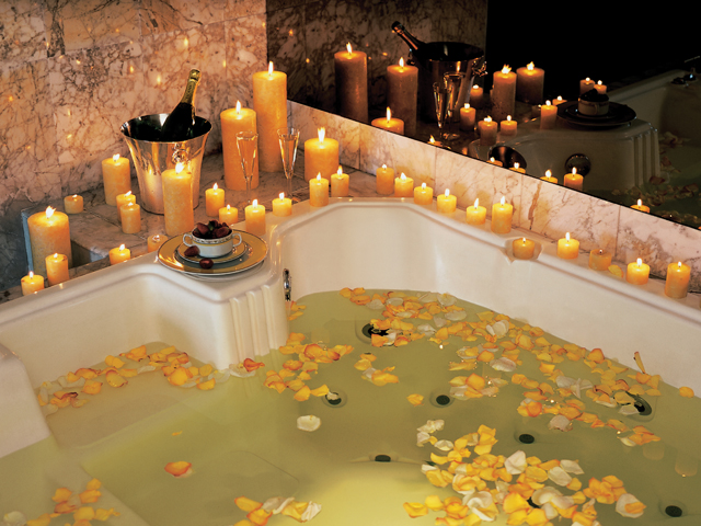 Events in Peru A romantic bath with candles, and champagne at the Belmont Park Hotel in Lima