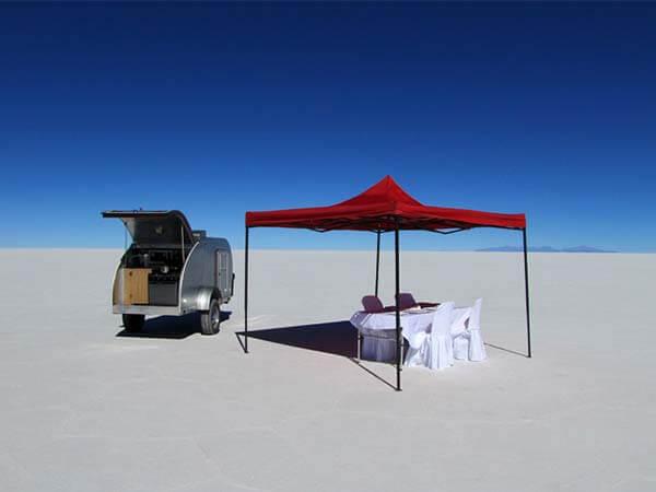 Events in Peru salt flat