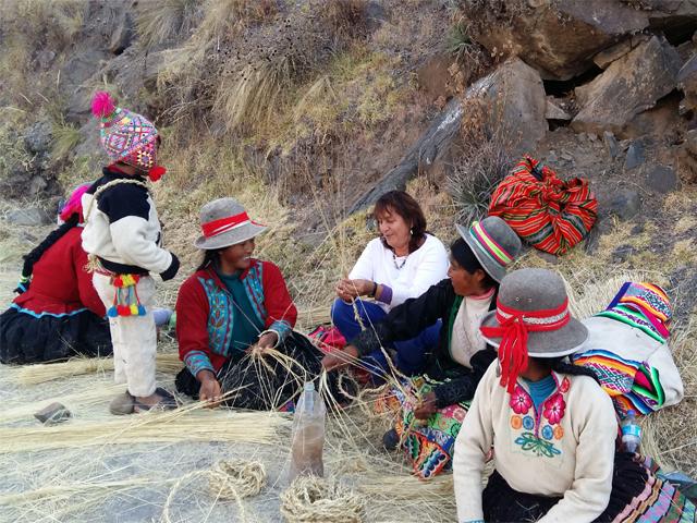 Inca rope bridge: Puente Qeswachaka