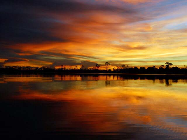 Sunset in the Amazon_insider experiences in Peru