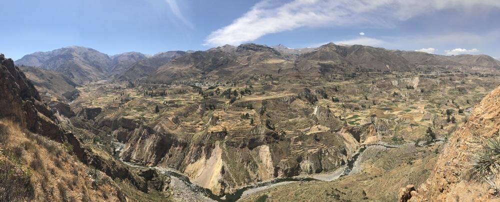 exploring colca canyon view