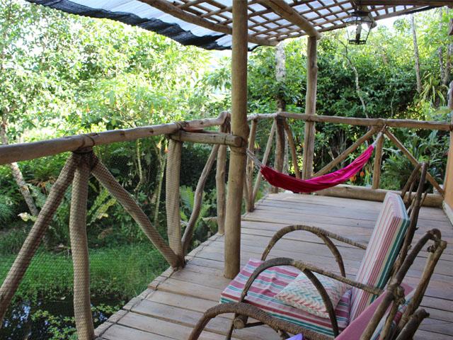 Kuelap hotels - relaxing in a hammock at Kentitambo