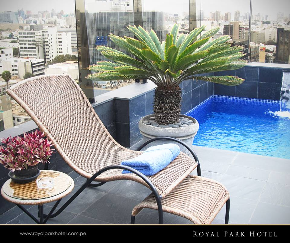 Enjoy a dip at the Royal Park Hotel Lima