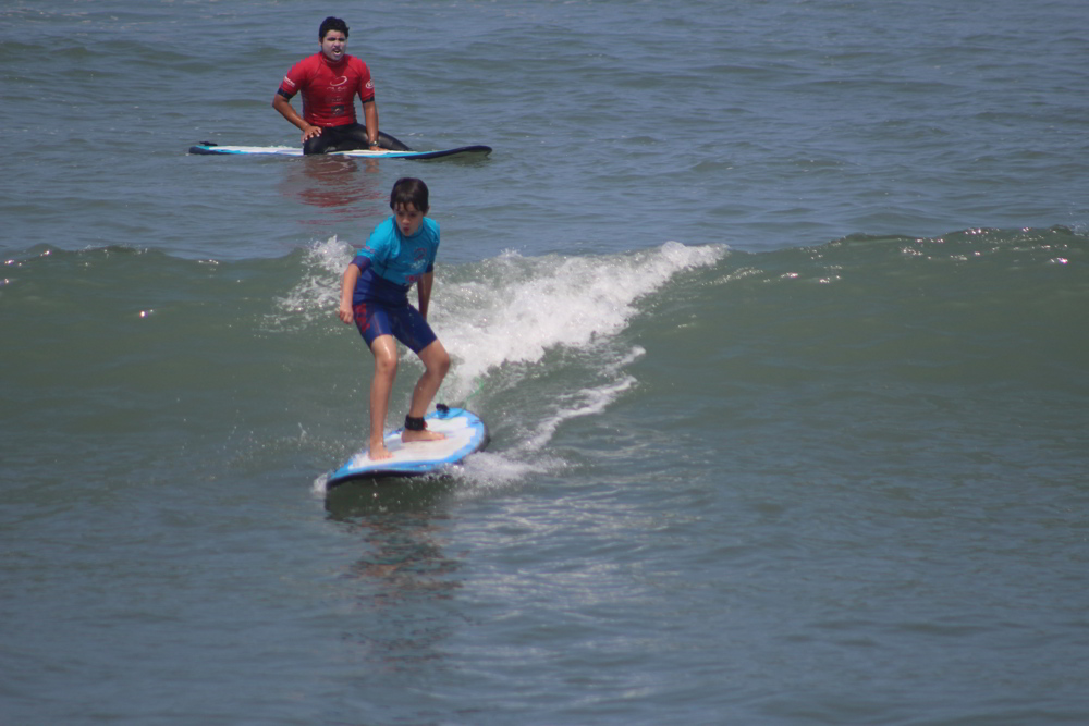 Peru family travel - surfing in Lima