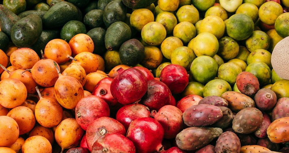 Cusco food tour - fruit in the market