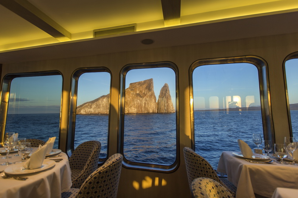 Origin Galapagos cruise - dining with a view