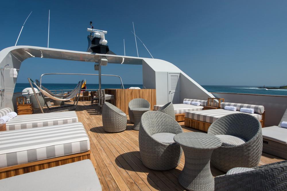 Origin Galapagos cruise - outdoor deck