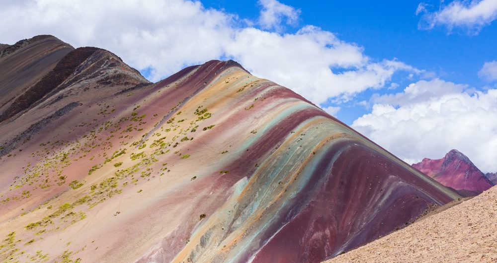 A beautiful view of the Rainbow Mountain Peru