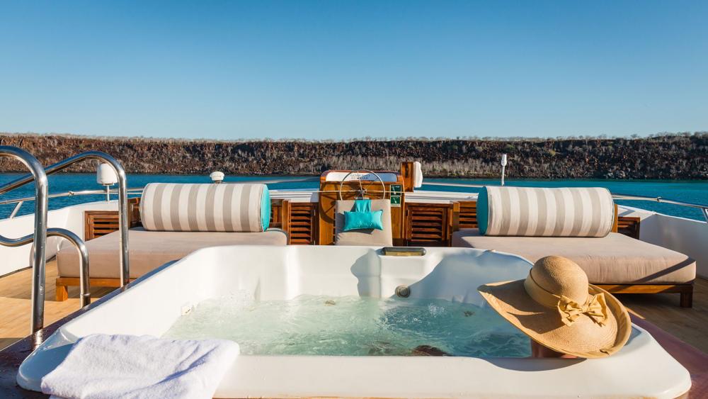 Sun deck aboard the Galapagos Sea Star Journey