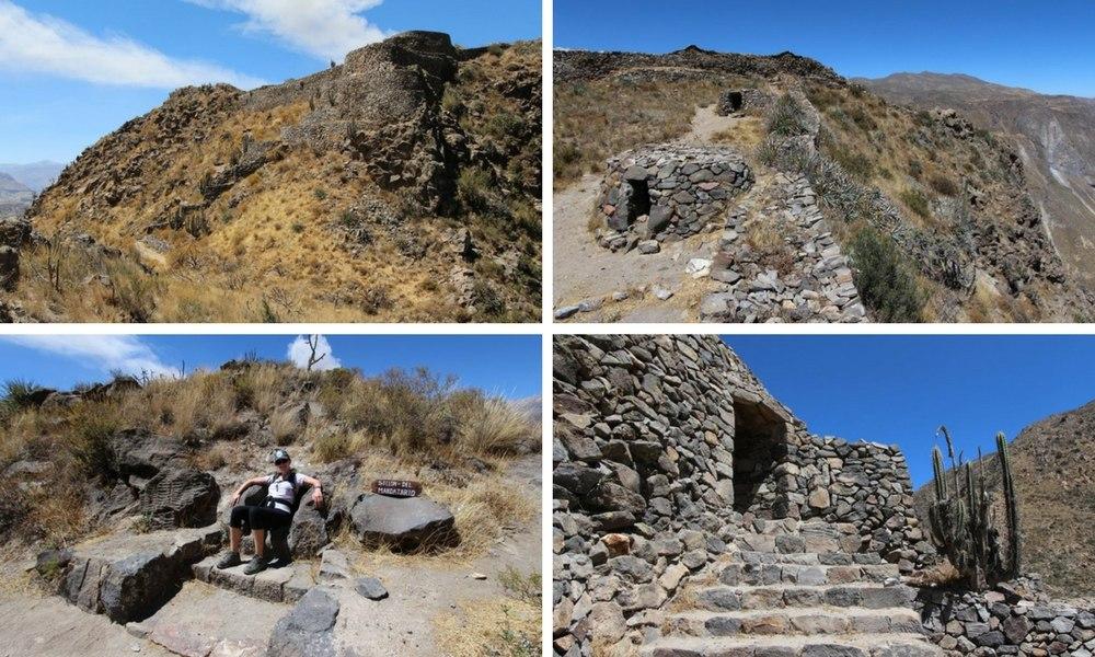 Hike in Colca Peru to Madrigal Chimpa Fortress 23
