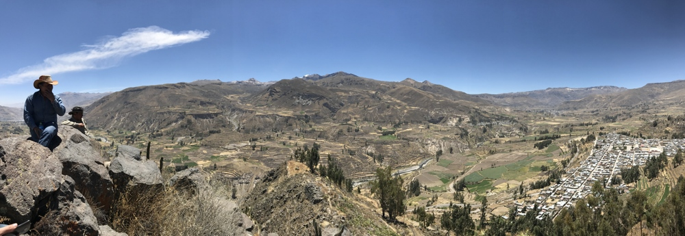 horseback ride in colca lookout