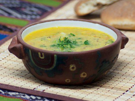 Bowl of quinoa soup